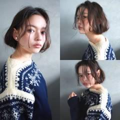 ウェーブ ナチュラル ミディアム 外国人風 ヘアスタイルや髪型の写真・画像