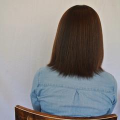 ミディアム ナチュラル パーマ 縮毛矯正 ヘアスタイルや髪型の写真・画像