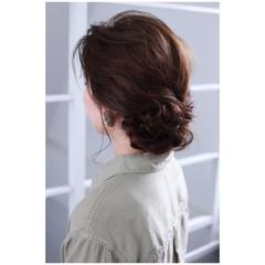ナチュラル ヘアアレンジ 涼しげ 色気 ヘアスタイルや髪型の写真・画像