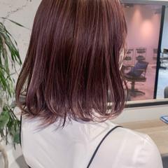 透明感カラー ハイライト 切りっぱなしボブ ボブ ヘアスタイルや髪型の写真・画像