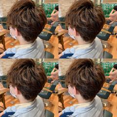 束感 刈り上げ ナチュラル ショート ヘアスタイルや髪型の写真・画像