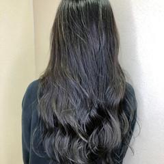 透明感 イルミナカラー ロング フェミニン ヘアスタイルや髪型の写真・画像