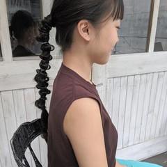アウトドア ナチュラル ロング 黒髪 ヘアスタイルや髪型の写真・画像