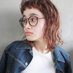 ストリート ショートバング ラフ ボブ ヘアスタイルや髪型の写真・画像