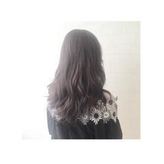 アッシュ ナチュラル セミロング 暗髪 ヘアスタイルや髪型の写真・画像