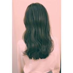 アッシュ 暗髪 ナチュラル ハイライト ヘアスタイルや髪型の写真・画像