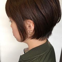 ショート ボブ 大人女子 ナチュラル ヘアスタイルや髪型の写真・画像