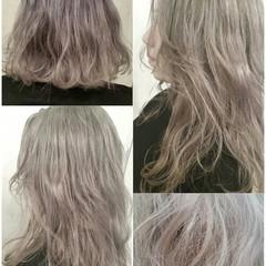 ハイトーン ミディアム ストリート 外国人風 ヘアスタイルや髪型の写真・画像