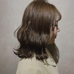 セミロング ナチュラル 韓国ヘア 韓国 ヘアスタイルや髪型の写真・画像