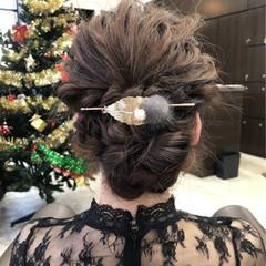 エレガント 上品 セミロング ヘアアレンジ ヘアスタイルや髪型の写真・画像
