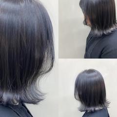 フェミニン ミディアム 切りっぱなしボブ レイヤーボブ ヘアスタイルや髪型の写真・画像