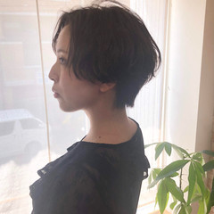 ナチュラル ショートボブ ショートヘア ショート ヘアスタイルや髪型の写真・画像