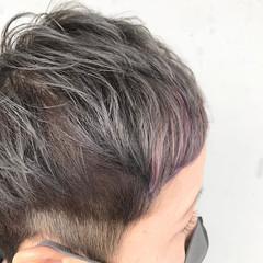 ナチュラル ベリーショート インナーカラー ショート ヘアスタイルや髪型の写真・画像