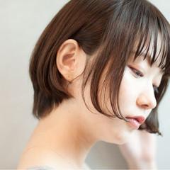 透明感 小顔 ナチュラル 秋 ヘアスタイルや髪型の写真・画像