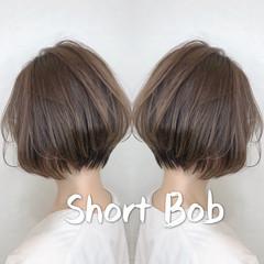 デート 小顔ショート ナチュラル ショートヘア ヘアスタイルや髪型の写真・画像