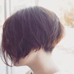 大人女子 ナチュラル ボブ パーマ ヘアスタイルや髪型の写真・画像
