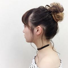 ヘアアレンジ 花火大会 デート フェミニン ヘアスタイルや髪型の写真・画像