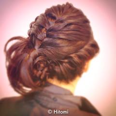パーティ 編み込み くるりんぱ ヘアアレンジ ヘアスタイルや髪型の写真・画像