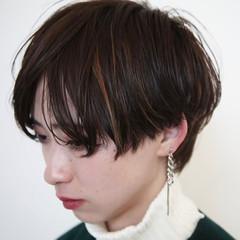 ショート ハンサムショート ショートヘア ナチュラル ヘアスタイルや髪型の写真・画像