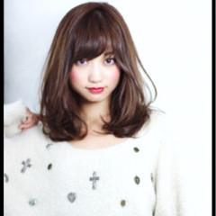 大人かわいい ミディアム グラデーションカラー コンサバ ヘアスタイルや髪型の写真・画像