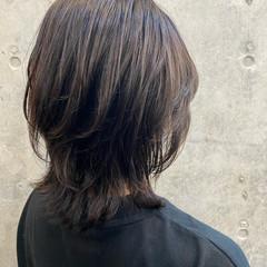 モード ウルフ ミディアム ウルフカット ヘアスタイルや髪型の写真・画像