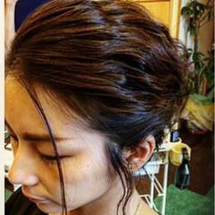 結婚式 簡単ヘアアレンジ ヘアアレンジ ガーリー ヘアスタイルや髪型の写真・画像