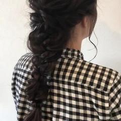 ロング パーティ ガーリー 編み込み ヘアスタイルや髪型の写真・画像