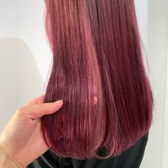 ロング ピンク ラベンダーピンク ピンクベージュ ヘアスタイルや髪型の写真・画像