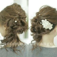 ロング フォーマル 結婚式 ヘアアレンジ ヘアスタイルや髪型の写真・画像