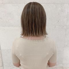外ハネボブ 切りっぱなしボブ モテボブ フェミニン ヘアスタイルや髪型の写真・画像