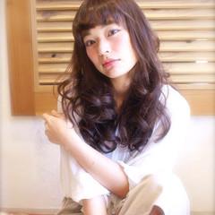 ゆるふわ フェミニン レイヤーカット ロング ヘアスタイルや髪型の写真・画像