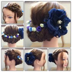 大人かわいい 三つ編み ヘアアレンジ ロング ヘアスタイルや髪型の写真・画像