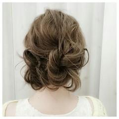 外国人風 セミロング ヘアアレンジ ピュア ヘアスタイルや髪型の写真・画像