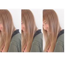 アッシュベージュ 外国人風 ストリート ローライト ヘアスタイルや髪型の写真・画像