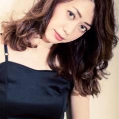 ロング モテ髪 デジタルパーマ ローライト ヘアスタイルや髪型の写真・画像