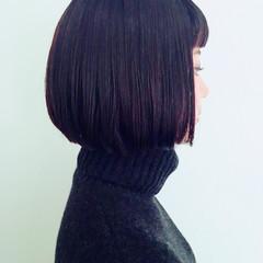 ストレート モード 黒髪 外国人風 ヘアスタイルや髪型の写真・画像