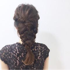 編み込み ナチュラル まとめ髪 ヘアアレンジ ヘアスタイルや髪型の写真・画像