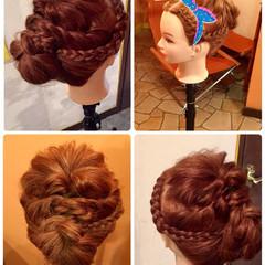 大人かわいい ヘアアレンジ 簡単 セミロング ヘアスタイルや髪型の写真・画像