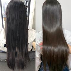 髪質改善カラー ロング トリートメント ナチュラル ヘアスタイルや髪型の写真・画像