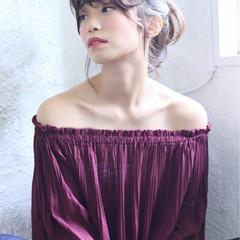 デート ナチュラル ヘアアレンジ 大人女子 ヘアスタイルや髪型の写真・画像