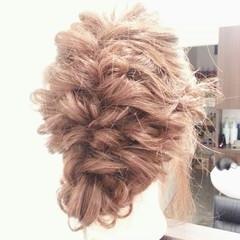 ゆるふわ セミロング 外国人風 簡単ヘアアレンジ ヘアスタイルや髪型の写真・画像