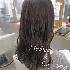 透明感カラー 圧倒的透明感 グレージュ ダメージレス ヘアスタイルや髪型の写真・画像