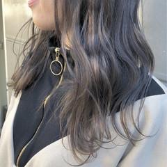 セミロング ゆるふわ 成人式 ナチュラル ヘアスタイルや髪型の写真・画像