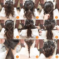 セミロング 外国人風 ヘアアレンジ フェミニン ヘアスタイルや髪型の写真・画像