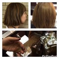 ハイライト アッシュ ウェットヘア ストリート ヘアスタイルや髪型の写真・画像