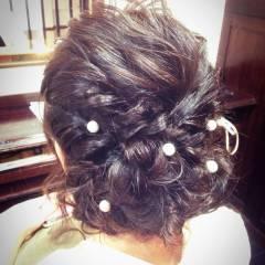 編み込み 三つ編み 結婚式 コンサバ ヘアスタイルや髪型の写真・画像