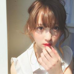 大人かわいい ヘアアレンジ セミロング ショート ヘアスタイルや髪型の写真・画像