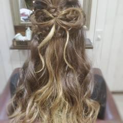 二次会 ヘアアレンジ フェミニン パーティ ヘアスタイルや髪型の写真・画像