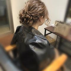 ヘアアレンジ アップ ヘアセット フェミニン ヘアスタイルや髪型の写真・画像