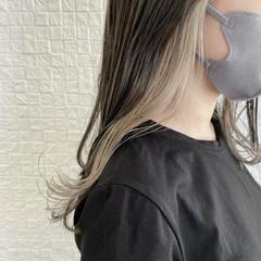 インナーカラー イヤリングカラー ナチュラル 透明感カラー ヘアスタイルや髪型の写真・画像